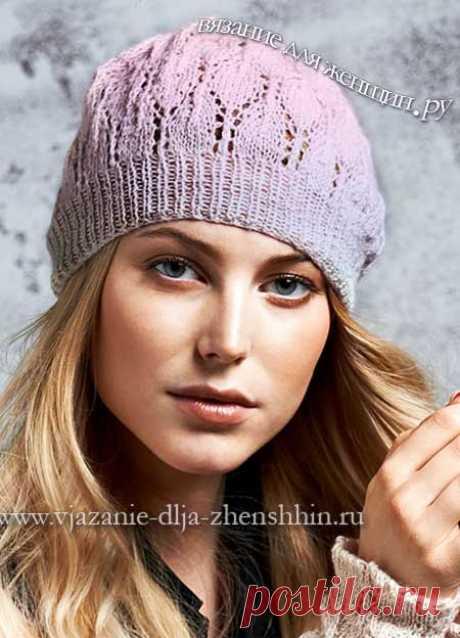 Вязание спицами шапки для женщин с описанием и схемами бесплатно