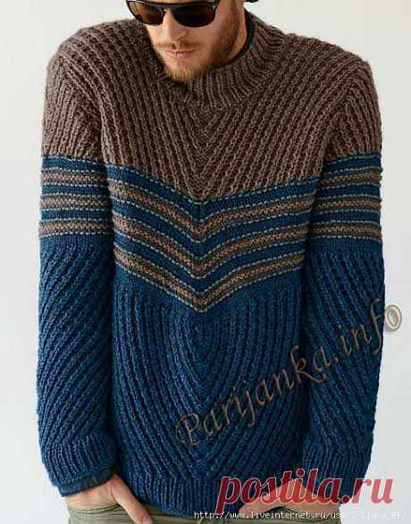 Пуловер (м) 735 Creations 2013/2014 Bergere de France №3781.