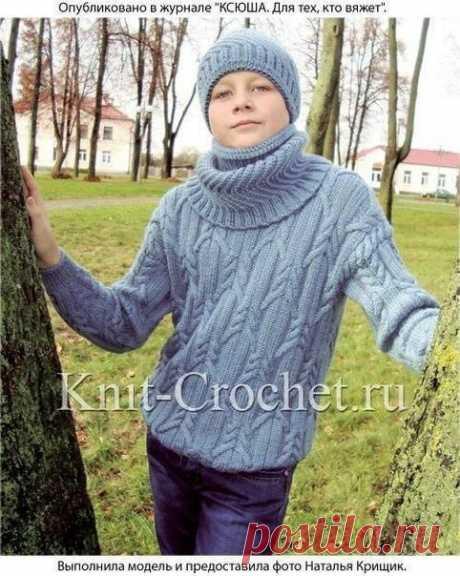 Пуловер, шапка и снуд для мальчика (Вязание спицами) – Журнал Вдохновение Рукодельницы