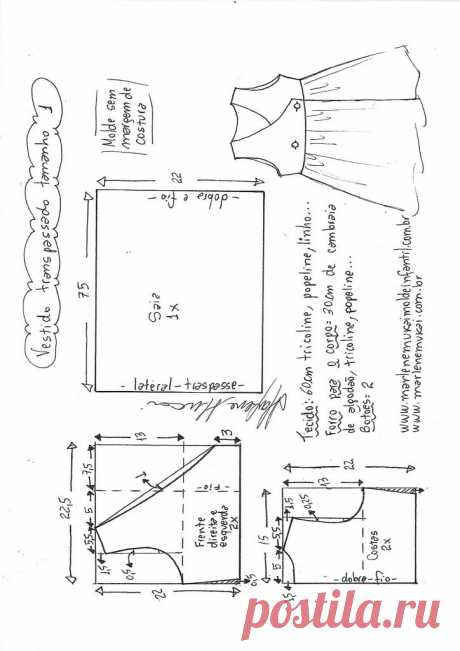 Платье внахлест в переднем конверте - DIY- марлен мукай - детская форма