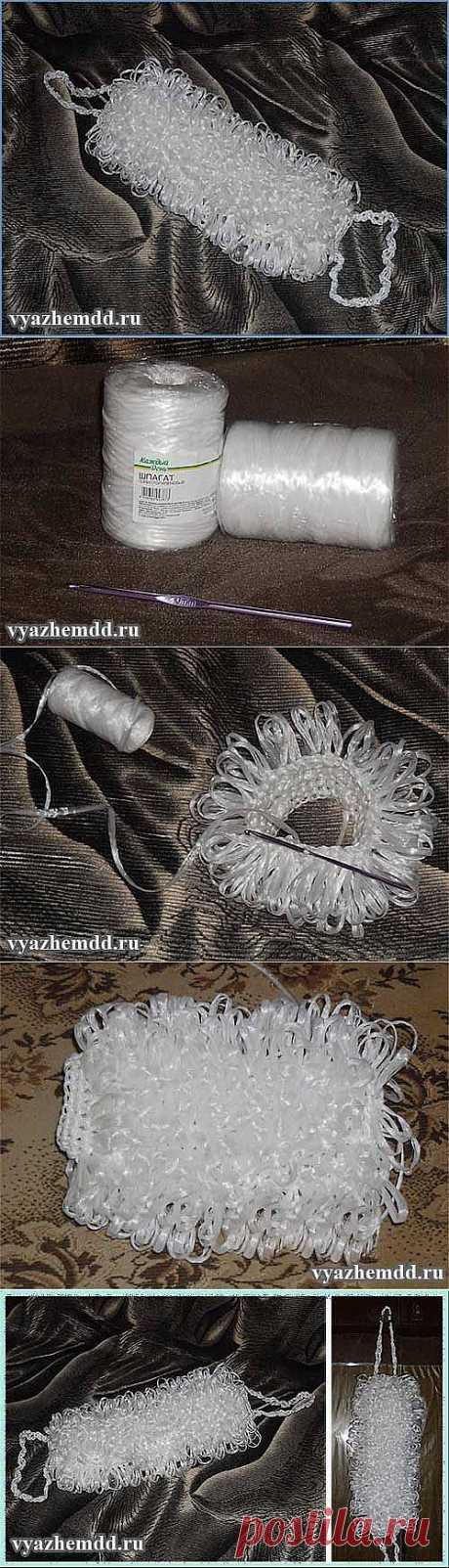 Мочалка с вытянутыми петлями | Милые мелочи