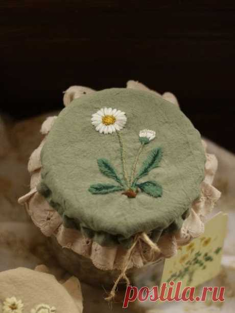 """""""Вышитые шляпки для банок от La Maison Naturaliste и не только""""  Блог о рукоделии, декоре, кулинарии и путешествиях"""
