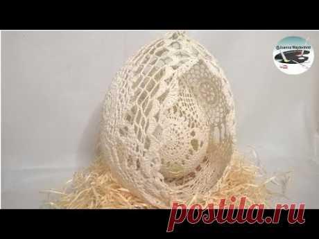 Как сделать двойное ажурное пасхальное яйцо