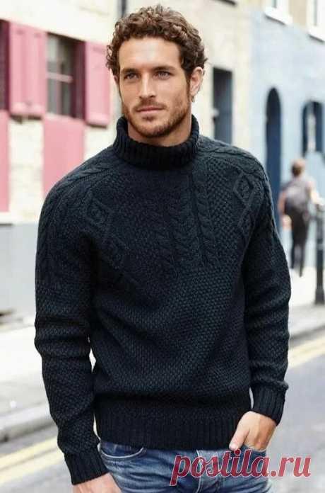 20 идей свитеров для мужчин. | Вязалкина | Яндекс Дзен