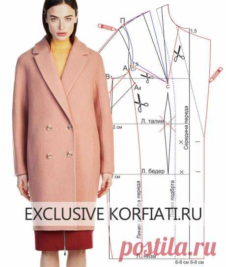 Моделирование пальто — Сделай сам, идеи для творчества - DIY Ideas