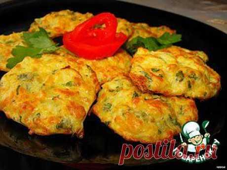 Капустные оладьи с сыром - кулинарный рецепт