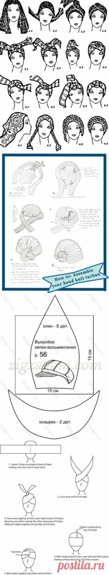 Альтернатива обычным шапкам. Топ-5 головных уборов, которые можно сделать своими руками | Сделуха | Яндекс Дзен