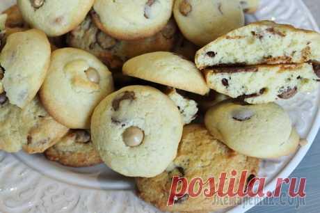 Las galletas con el chocolate