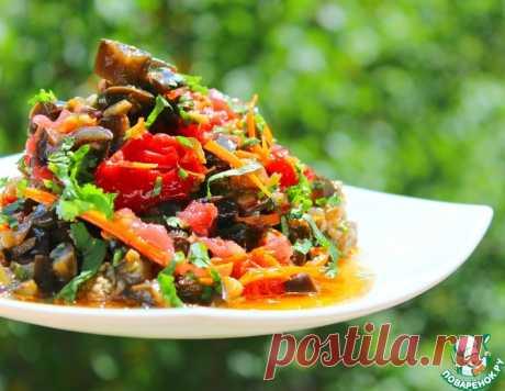 Пикантная закуска из баклажанов и овощей – кулинарный рецепт