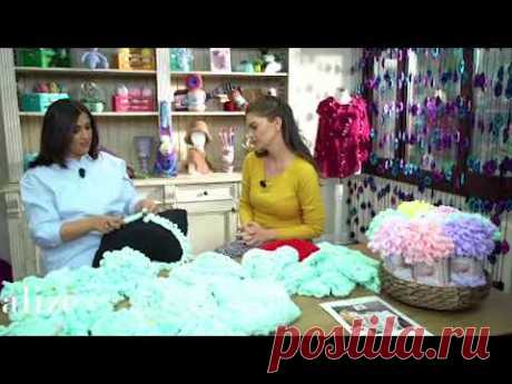 Alize Puffy Color ile Bere Yapımı- Making Knitting Hat with Alize Puffy Color