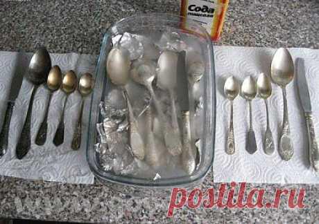 Как очистить до блеска серебро и мельхиор. | My Milady