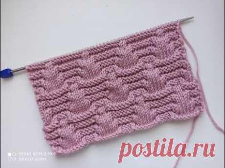 Очень красивый рельефный узор спицами для вязания кардиганов, джемперов, свитеров.