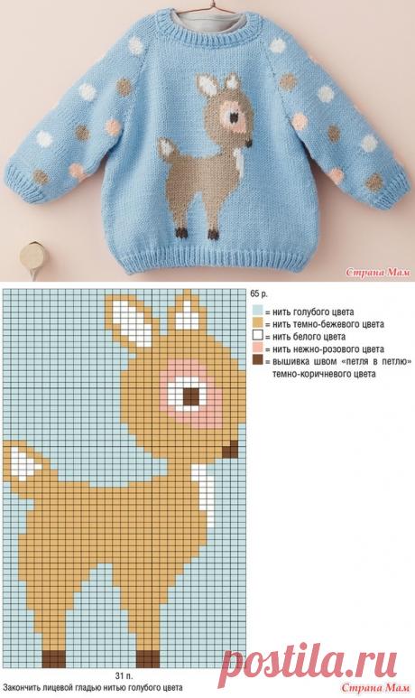 . Детский свитер с рисунком, 2 модели. Спицы - Вязание - Страна Мам