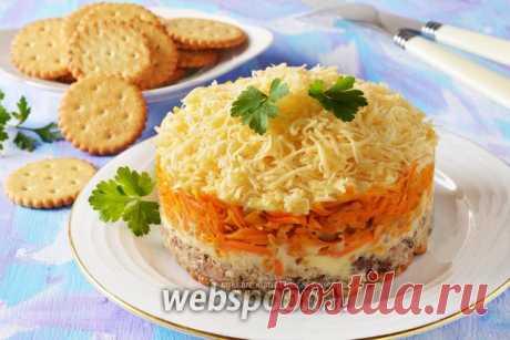 Салат с крекерами и консервой рецепт с фото, как приготовить на Webspoon.ru