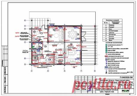 Проект электрики дома пример 544