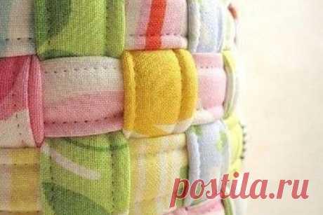 Плетём корзинку из полосок ткани | Краше Всех