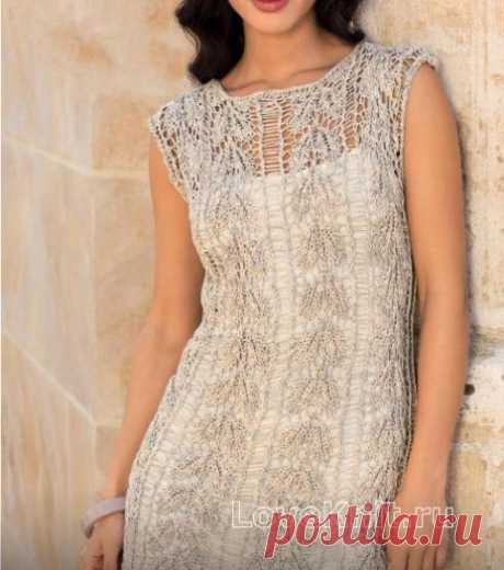 "Translucent tunic with a pattern from openwork strips the scheme spokes"" I Like to Knit"