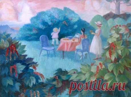 Я детей родила, чтоб с моими детьми поделиться Тем, как птица поёт и цветёт по весне медуница. Я детей родила и устроила им новоселье Для счастливых затей и любви и тепла, и веселья. Боже, воля Твоя, но о добром прошу Тебя деле: Сделай так, чтоб они о поступке моём не жалели. Лариса Миллер