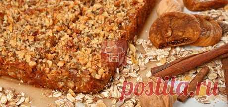 Овсяный пирог с яблоками и инжиром | Кулинарный журнал Stay Delicious