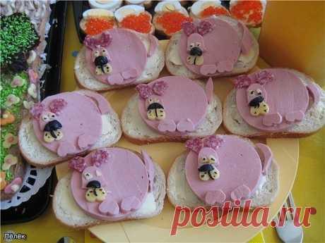 Бутерброды с чуть фантазией
