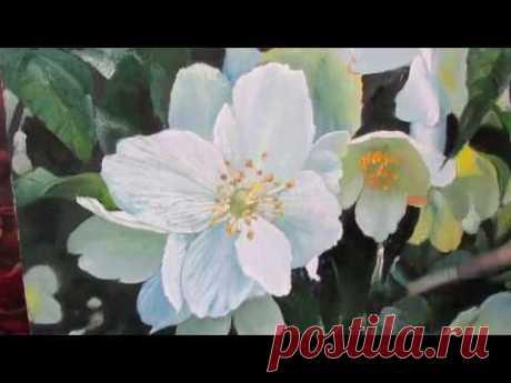 КАК НАПИСАТЬ ЦВЕТОК ЖАСМИНА   картина маслом  Художник  А   Мишин - YouTube