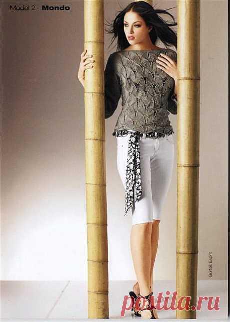 Вязание-спицы Пуловер.