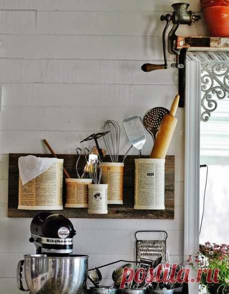 Преображение жестяных банок для разных мелочей — Мой дом