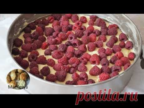 МАЛИНОВЫЙ ПИРОГ/RASPBERRY CAKE