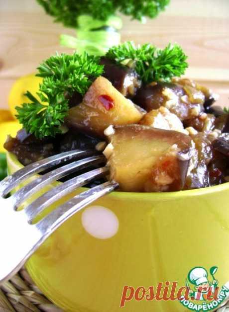 Тушеные баклажаны в медовом соусе Кулинарный рецепт