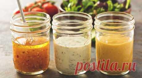 Полезные и вкусные заправки к салатам из овощей