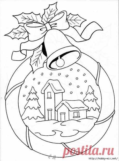Новогодние и рождественские картинки. Шаблоны для творчества.