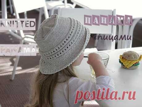 La panameña para la muchacha. La labor de punto para los principiantes. Knitted Panama.