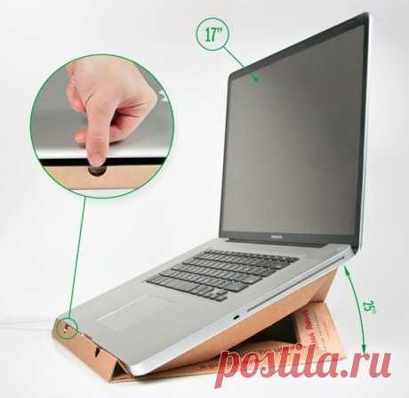Как сделать подставку для ноутбука из коробки от пиццы