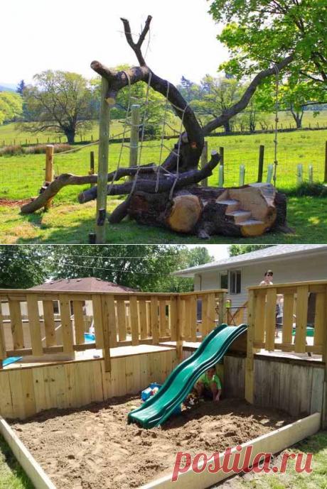 Детская площадка своими руками: замечательные идеи