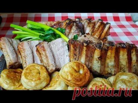 Свиные рёбра к Рождественскому столу, цыганка готовит. Gipsy cuisine.