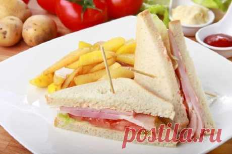 Клаб-сэндвич с ветчиной и беконом – пошаговый рецепт с фото.