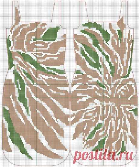 Платье Астра от Stella McCartney крючком – схема и описание филейного вязания