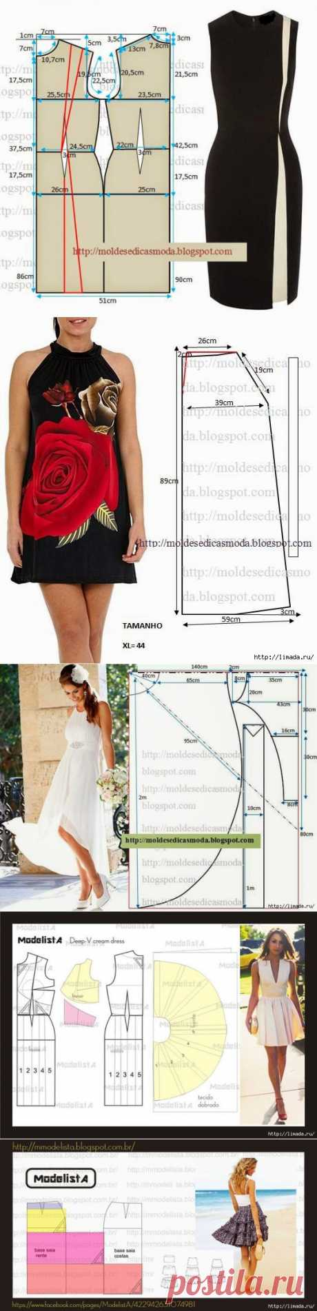 к летнему сезону- сарафаны.платья,юбки,блузки.... часть1.