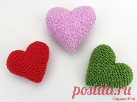 Идеальное сердечко крючком - Вязание - Страна Мам