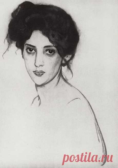 Портрет И.Ю.Грюнберг. 1910     Валентин Александрович Серов (1865-1911). Часть 1: vakin