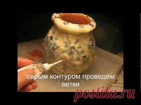 """Мастер-класс: """"Каменная"""" ваза эпохи средневековья"""