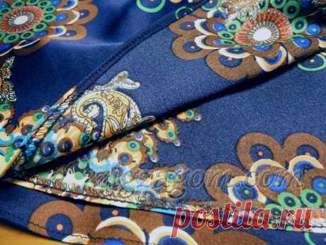 Обработка подола юбки: широкая подгибка круглого края МК