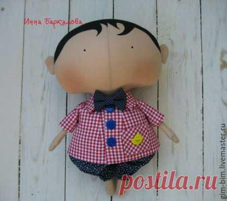 Купить МАЛЬЧИК Sweetheart Doll - ярко-красный, тильда, тильда кукла, милая кукла