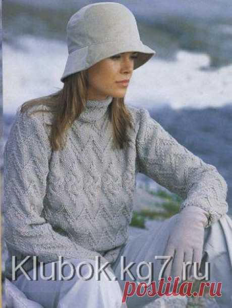 Вязаный пуловер | Клубок