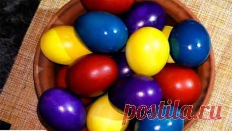 Как окрасить яйца натуральными красителями - сайт кулинарии