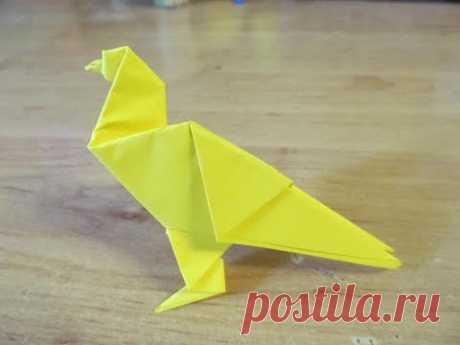 Как сделать ПТИЦУ ИЗ БУМАГИ Бумажная птица ОРИГАМИ How to make a PAPER BIRD ORIGAMI