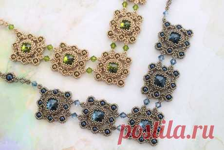 Tutorial for necklace 'Royal Duchess' - English - Trinkets beading