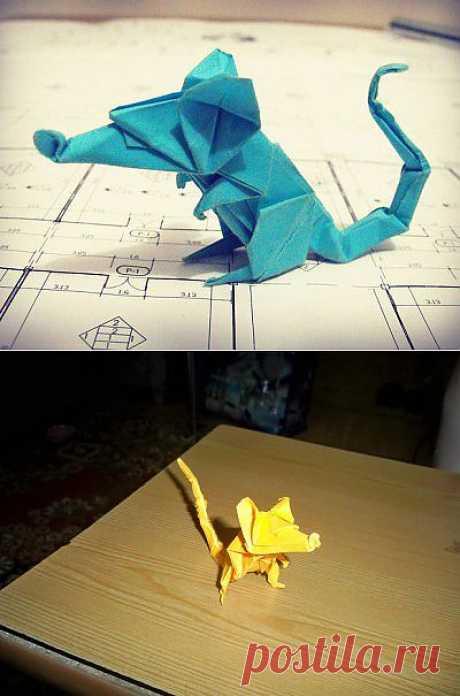 El origami la rata del diseñador Eric Joisel