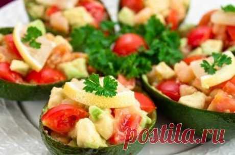 Лодочки из авокадо - чудесный постный ужин