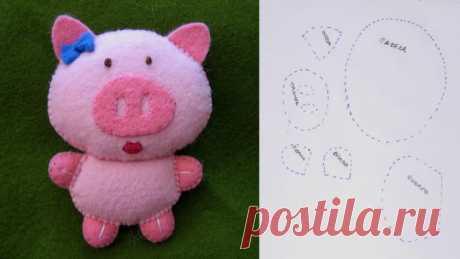 Выкройка игрушки свиньи, хрюшки, поросенка / Мастер-класс
